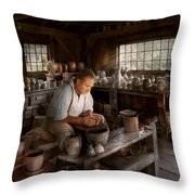 Potter - Raised In The Clay Throw Pillow by Mike Savad