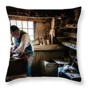 Potters Shed Throw Pillow by Scott Thorp