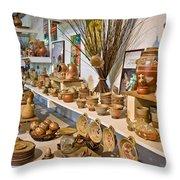 Pottery In La Borne Throw Pillow by Oleg Koryagin