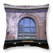 Poughkeepsie Train Station Throw Pillow by Joseph Duba