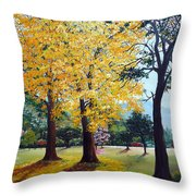 Poui Trees In The Savannah Throw Pillow by Karin  Dawn Kelshall- Best