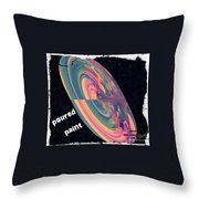 Poured Paint Throw Pillow by Cindy McClung