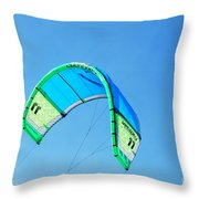 Power Kite Throw Pillow by DejaVu Designs