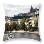 Prague Castle Throw Pillow by Haleh Mahbod