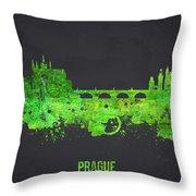 Prague Czech Republic Throw Pillow by Aged Pixel