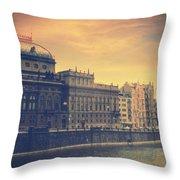 Prague Days Throw Pillow by Taylan Soyturk