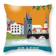 Prague Throw Pillow by Karen Young