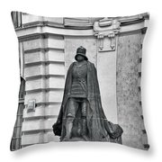Prague - The Iron Man from a long time ago and a country far far away Throw Pillow by Christine Till
