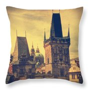 Praha Throw Pillow by Taylan Soyturk