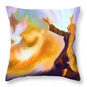 Praise Him Throw Pillow by Susanna  Katherine