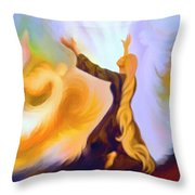 Praise Him Throw Pillow by Susanna  Katherine