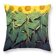 Praise The Son Throw Pillow by Anthony Falbo