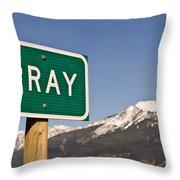 Pray Throw Pillow by Sue Smith
