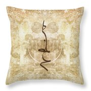 Prayer Flag 15 Throw Pillow by Carol Leigh