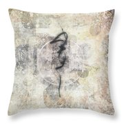 Prayer Flag 17 Throw Pillow by Carol Leigh