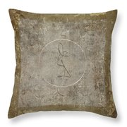 Prayer Flag 204 Throw Pillow by Carol Leigh