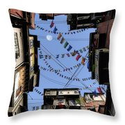 Prayer Flags Throw Pillow by Cynthia Decker