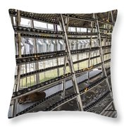 Prayer Lights Building Throw Pillow by Patricia Hofmeester