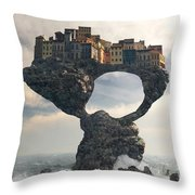 Precarious Throw Pillow by Cynthia Decker