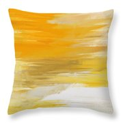 Precious Metals Abstract Throw Pillow by Andee Design