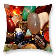 Precious Stones Throw Pillow by Frozen in Time Fine Art Photography