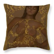 Pregnant Mother Goddess Throw Pillow by Diana Perfect