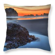 Preparing To Shoot Throw Pillow by Adam Jewell