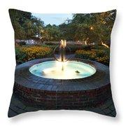 Prescott Fountain Throw Pillow by Eric Gendron