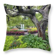 Prescott Garden Throw Pillow by Eric Gendron