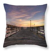 Prescott Park Boardwalk Throw Pillow by Eric Gendron