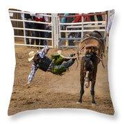Prescott Rodeo 2014  Throw Pillow by Jon Berghoff