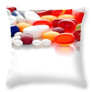 Prescriptions Throw Pillow by Olivier Le Queinec