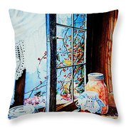 Preserving The Harvest Throw Pillow by Hanne Lore Koehler