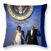 President And Michelle Obama Throw Pillow by had J McNeeley