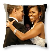 President and Michelle Obama Throw Pillow by Official Government Photograph