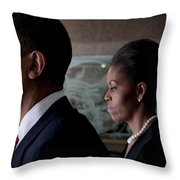 President and Mrs Obama Throw Pillow by Mountain Dreams