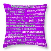 Presidents of The United States 20130625p60 Throw Pillow by Wingsdomain Art and Photography