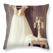 Pretty Dress Throw Pillow by Amanda And Christopher Elwell