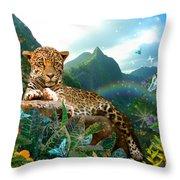 Pretty Jaguar Throw Pillow by Alixandra Mullins
