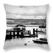 Priddy's Hard Boats Throw Pillow by Terri Waters