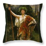 Priestess Bacchus Throw Pillow by John Collier