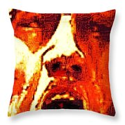 Primal Throw Pillow by Larry E Lamb