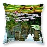 Prince Charmings Lily Pond Throw Pillow by Frozen in Time Fine Art Photography