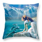 Princess Throw Pillow by Andrew Farley