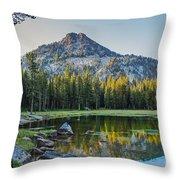 Pristine Alpine Lake Throw Pillow by Robert Bales