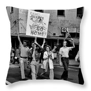 Protesting Iran Throw Pillow by Benjamin Yeager