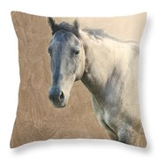 Proud Throw Pillow by Betty LaRue
