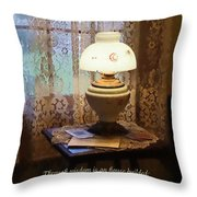 Proverbs 24 3 Through Wisdom Is An House Builded Throw Pillow by Susan Savad