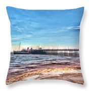 Ps Waverley At Penarth Pier 2 Throw Pillow by Steve Purnell