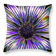 Psychedelic Daisy Throw Pillow by Bill Caldwell -        ABeautifulSky Photography